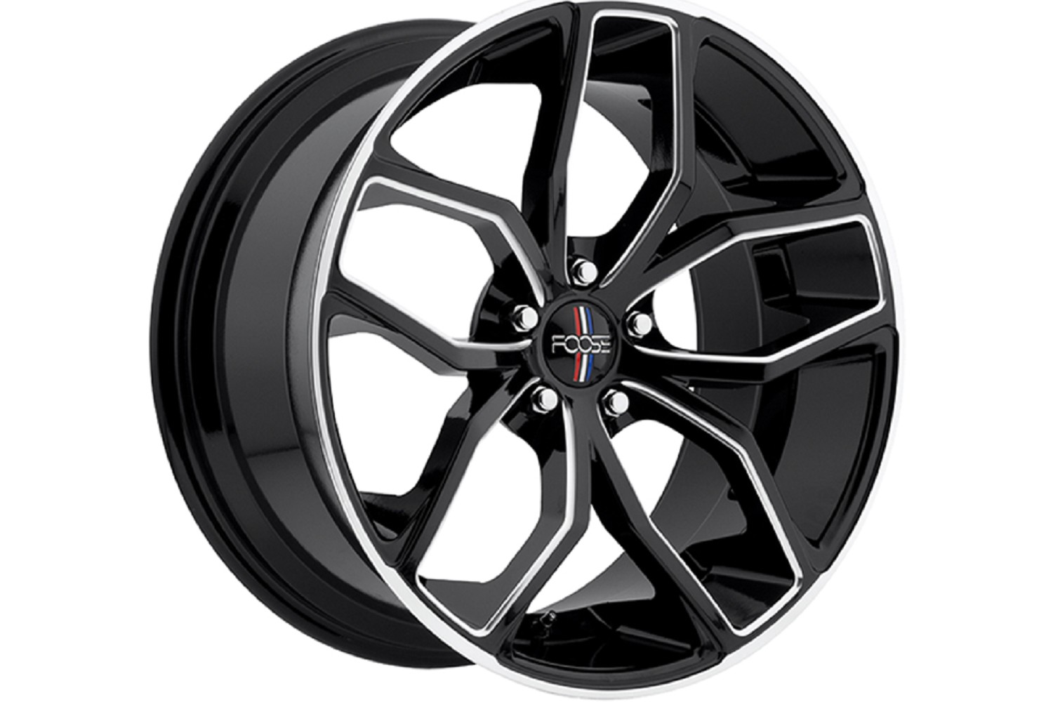 Foose black machined outcast 20x8 5 mustang wheel 05 15