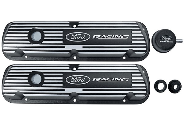 Ford Performance Black Satin Valve Covers - Pair (79-85 GT)
