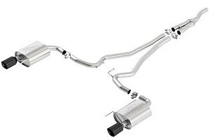 Ford Performance Euro Spec Mustang Cat-Back Exhaust Black Chrome Tips (2016 EcoBoost)