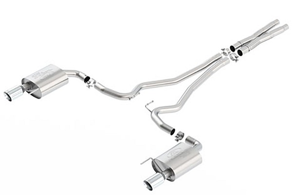 Ford Performance Euro Spec Mustang Cat-Back Exhaust Chrome Tips (2016 GT)
