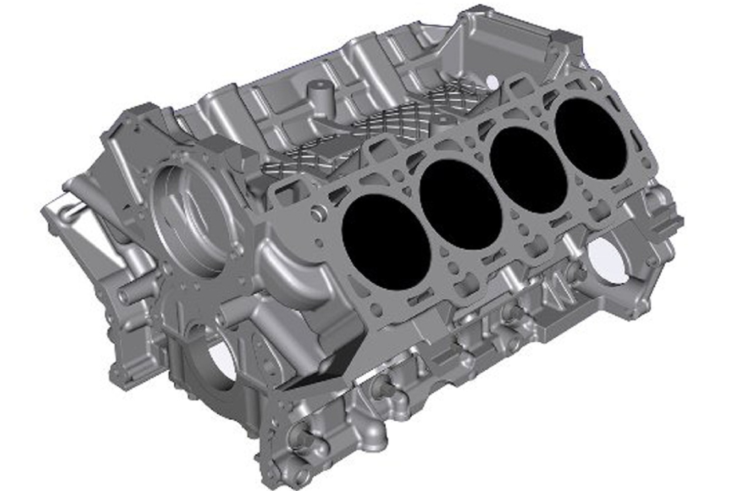 Ford performance gt350 5 2l coyote aluminum cylinder block 15 17 gt350