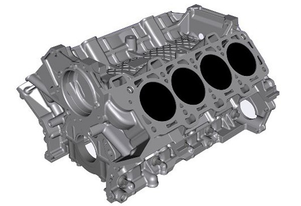 Ford Performance GT350 5.2L Coyote Aluminum Cylinder Block (15-17 GT350) DISCONTINUED