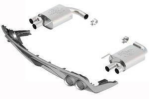 Ford Performance Mustang EcoBoost Quad-Tip Touring Axle-Back Exhaust W/ GT350 Rear Valance (15-17 EcoBoost)