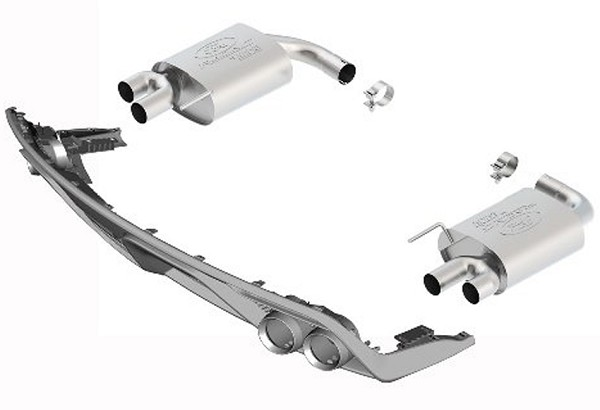 Ford Performance Mustang EcoBoost Touring Quad-Tip Axle-Back Exhaust W/ GT350 Rear Valance (2015-2017)