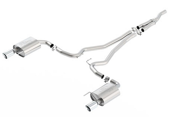 Ford Performance Mustang GT Sport Cat-Back Exhaust - Chrome Tips (2015-2017)