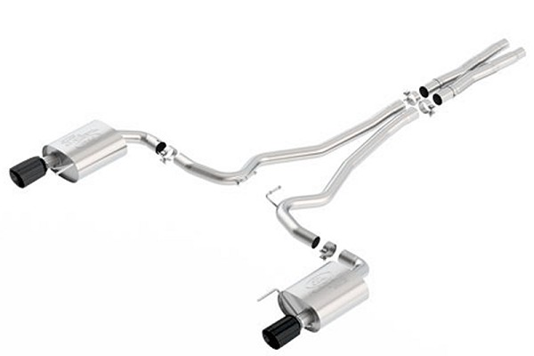 Ford Performance Touring Catback Mustang Exhaust-Black Tips (2015)