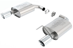 Ford Performance Touring Mustang EcoBoost Axle-back Exhaust Chrome Tips (2015)