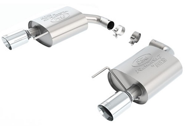 Ford Performance Mustang EcoBoost Touring Axle-back Exhaust - Chrome Tips (2015-2017)