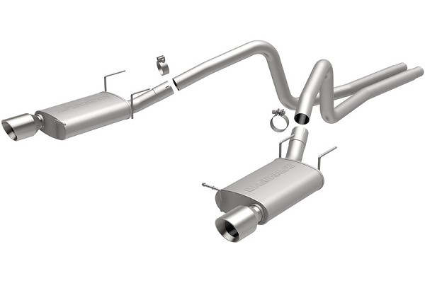 MagnaFlow Mustang V6 Street Cat-Back Exhaust - 4.5 in. Tips (2013-2014)