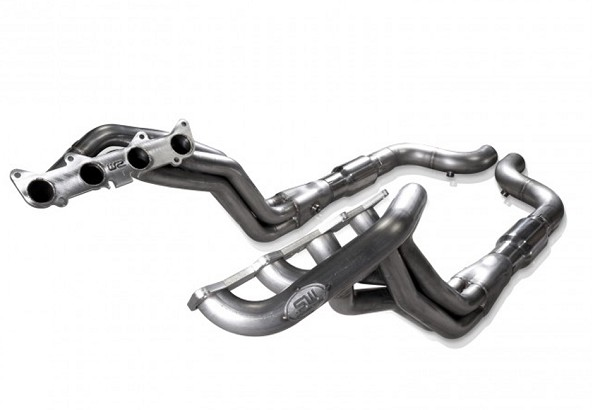 "Stainless Works Mustang GT 1-7/8"" Long Tube Catted Headers FC (2015-2019)"