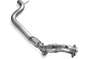 "Stainless Works S550 Mustang EcoBoost 3"" Catted Downpipe SW Connection (2015-2020)"