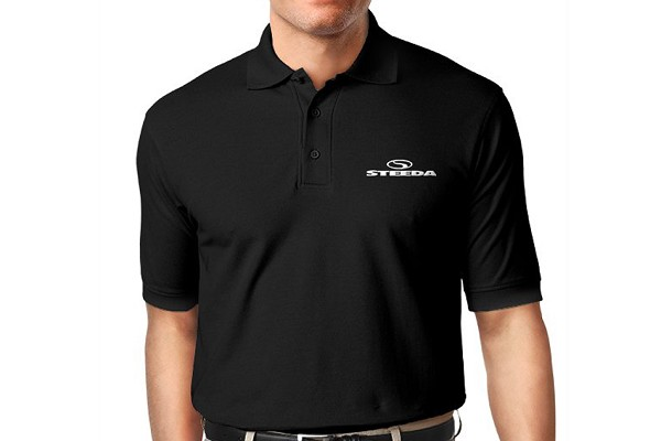 Steeda Adidas ClimaLite Short-Sleeve Golf Polo Shirt, Black