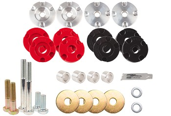 Steeda S550 Mustang Differential Bushing Insert System - Street to Full Race Combo Kit (15-18 GT)
