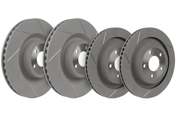 Steeda Mustang GT PP Slotted Front and Rear Brake Rotors (2015-2019 GT) DISCONTINUED