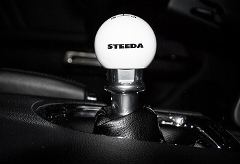 Steeda S550 Mustang 6-Speed White Shift Knob (2015-2019)