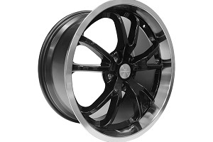 Steeda Mustang Spyder Wheel - Black w/ Machined Lip - 20x9.5 (2015-2019)