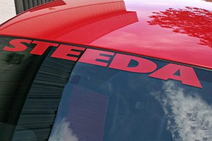 Steeda Windshield Decal - Red