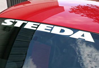 Steeda Windshield Decal - White