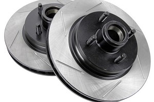 StopTech Slotted Mustang Front Sport Rotors - (87-93)