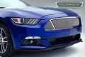 T-Rex Grilles S550 Mustang Upper Class Series 3 Window Opening Stainless Steel Formed Mesh Grille (15-17 All)
