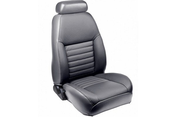 TMI Mustang GT Coupe Full Front & Rear Sport Leather Seat Upholstery Set w/ Pony Logo (2001-2004)