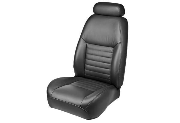 TMI Mustang Coupe/Convertible Front Bucket Sport Leather Seat Upholstery Pair (1999 GT)