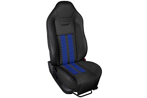 TMI Sport R500 Series Vinyl Mustang Blue Airbag Seat Upolstery w/ Seat Foam (05-10)