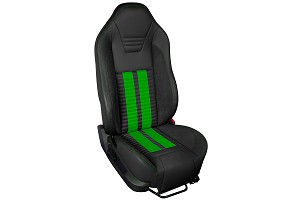 TMI Sport R500 Series Vinyl Mustang Got To Have It Green Airbag Seat Upolstery w/ Seat Foam (05-10)