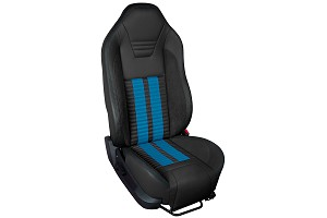 TMI Sport R500 Series Vinyl Mustang Grabber Blue Airbag Seat Upolstery w/ Seat Foam (05-10)
