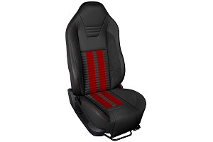TMI Sport R500 Series Vinyl Mustang Red Airbag Seat Upolstery w/ Seat Foam (05-10)