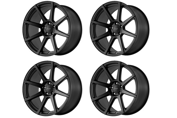 Velgen Wheels Mustang VMB8 Satin Black Staggered Wheel Set - 20x9/10.5 (2005-2021)