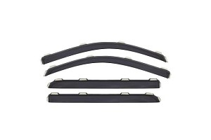 AVS Ford Explorer Ventvisor In-Channel Front & Rear Window Deflectors 4pc - Smoke ( 2011-2019)