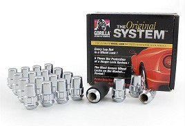 Gorilla Wheel Lock Chrome Mustang Lug Nut Set (1994-2014)