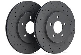 Hawk Talon  Ford Explorer Standard Duty Brakes Drilled and Slotted Front Brake Rotor Set (2011-2016)