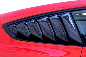 Steeda S550 Mustang Carbon Fiber Rear Quarter Window Louvers (2015-2020 ALL)