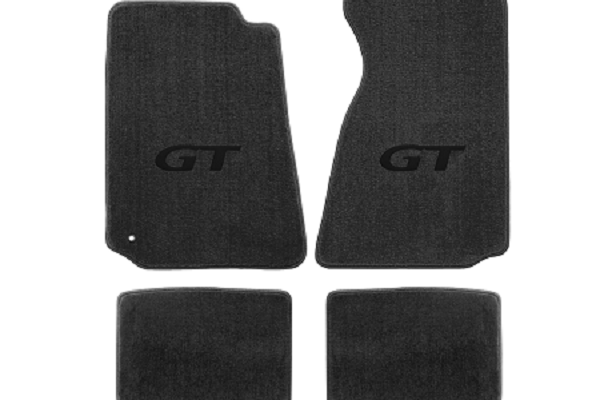 Lloyd Mats Mustang Grey Floor Mats w/ Black GT Logo (94-04 Coupe/99-04 Convertible)