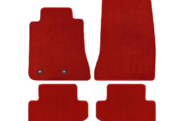 Lloyd Mats Mustang Red Floor Mats - Front & Rear (15-19 All)