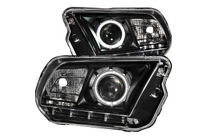 Anzo S197 Mustang Projector Headlights w/ Halo Black (CCFL) (2010-2013)