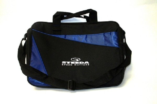 "Steeda 15"" Carrying Case / Laptop Bag w/ Shoulder Strap (Black/Royal Blue)"