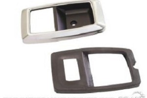 Mustang Door Bezel Pair Chrome (79-93)