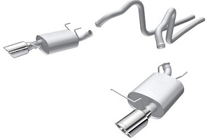 "Borla S197 Mustang  2.25"" S-Type Cat-Back Exhaust w/ 4.5"" Polished Tips 3.7L V-6  (2011-2014)"