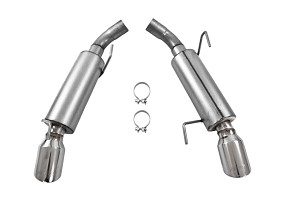 "MBRP S197 Mustang GT Aluminized Steel 2 1/2"" Dual Mufflers Axle-back Exhaust, Split Rear (2005-2010)"
