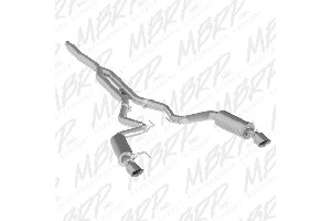 MBRP Ford Mustang EcoBoost 2.3L Alum 3in Cat-Back Exhaust Dual Split Rear Exit (Street Version) (2015-2020)