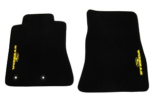 Steeda S550 Mustang Floor Mat Set - Yellow (2015-2019 All)