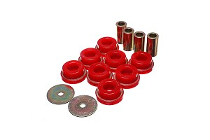Energy Suspension Mustang Subframe Bushing Kit Red/Black (2015-2020)