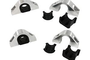 Steeda S550 Billet Front And Rear Swaybar Mount Kit With Delrin bushings (2015-2019 All)