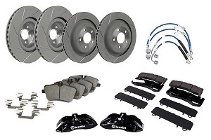 Steeda S550 Mustang Slotted Performance Pack Brembo Big Brake Kit (2015-2019 GT & Ecoboost PP)