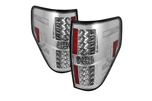 Spyder F150 09-14 LED Tail Lights - Chrome