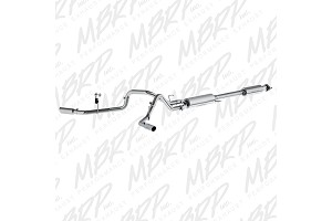 "MBRP Installer Series 2015-2017 F-150 5.0L 2-1/2"" Cat-Back Exhaust, Dual Side  Exit,  Aluminzed"