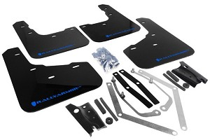 Rally Armor Mud Flap Set Black w/ Blue Logo  Fiesta ST 2014-2017